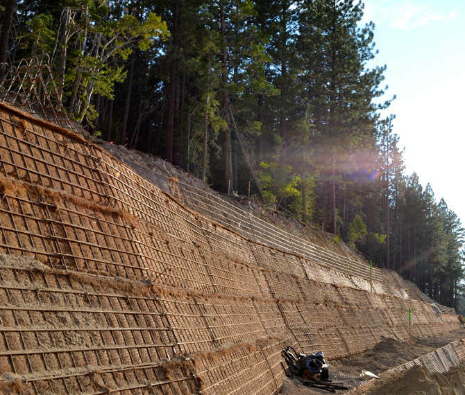 Retaining Wall Pictures Of Slopes